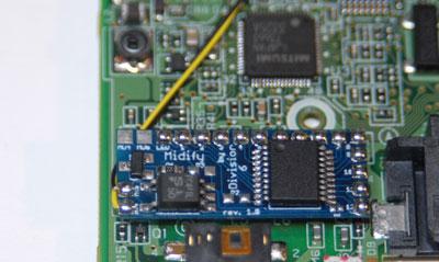 Bend wires under board