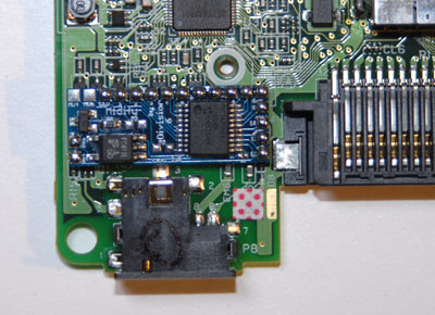 Stick the Midify board to the DS PCB here