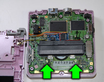 Replace 2 of the 3 PCB screws