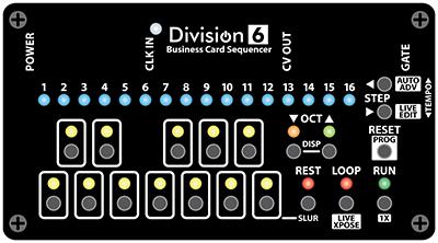 Business Card Sequencer v2 Front Panel