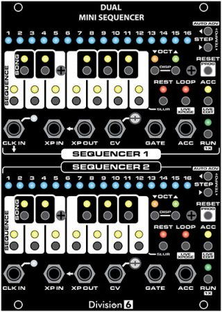 Dual Mini Sequencer v2 Front Panel