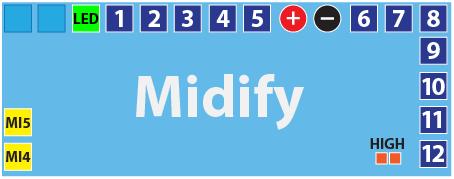 Midify Pinout